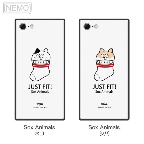 iPhone11Pro ケース ガラス iPhone11 ケース iPhone8 ケース iPhone XR ケース iPhone 11ProMax XS XSMax X 7 8Plus 7Plus ケース スクエア 動物 NEMO|advan|08