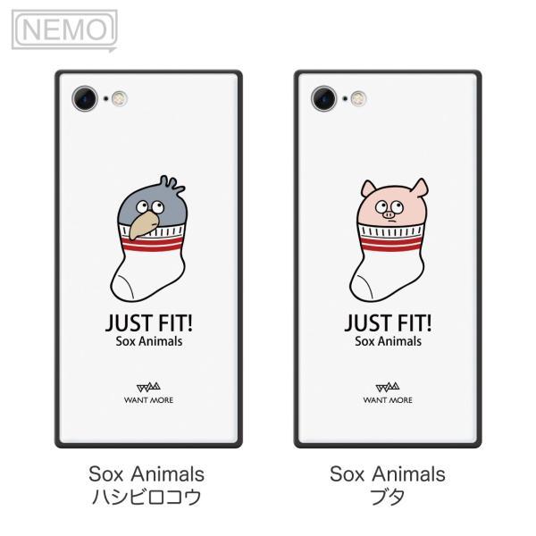 iPhone11Pro ケース ガラス iPhone11 ケース iPhone8 ケース iPhone XR ケース iPhone 11ProMax XS XSMax X 7 8Plus 7Plus ケース スクエア 動物 NEMO|advan|12