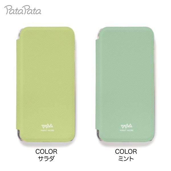 iPhone8 ケース 手帳型 iPhone11Pro ケース iPhone 11 XS X 7 8Plus 7Plus 6s 6 6sPlus 6Plus ケース カード収納 クリア カラー PataPata|advan|13