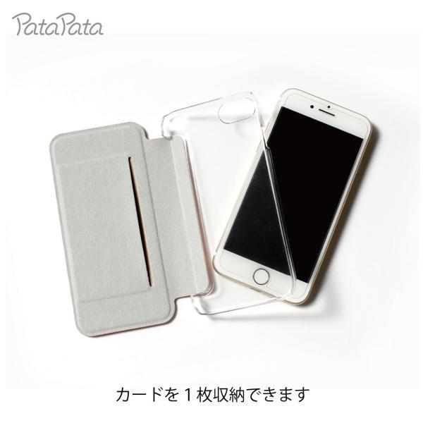 iPhone8 ケース 手帳型 iPhone11Pro ケース iPhone 11 XS X 7 8Plus 7Plus 6s 6 6sPlus 6Plus ケース カード収納 クリア カラー PataPata|advan|04