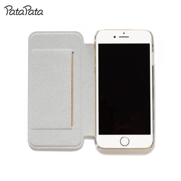 iPhone8 ケース 手帳型 iPhone11Pro ケース iPhone 11 XS X 7 8Plus 7Plus 6s 6 6sPlus 6Plus ケース カード収納 クリア カラー PataPata|advan|07