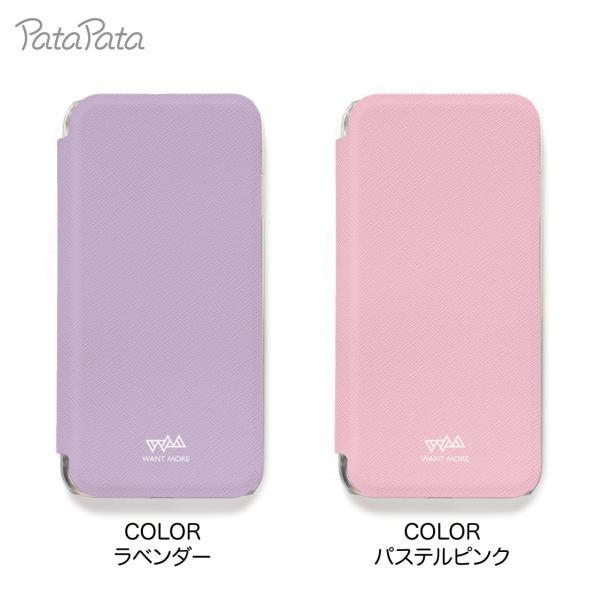 iPhone8 ケース 手帳型 iPhone11Pro ケース iPhone 11 XS X 7 8Plus 7Plus 6s 6 6sPlus 6Plus ケース カード収納 クリア カラー PataPata|advan|09