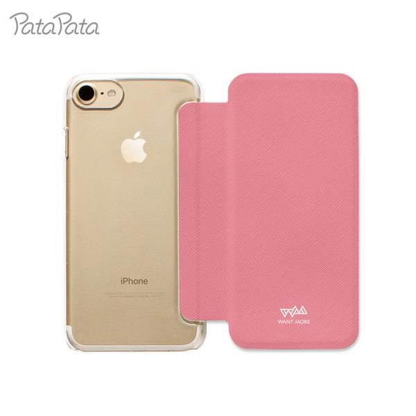 iPhone XS ケース iPhone 11 ケース iPhone 11 Pro X 8 7 8Plus 7Plus 6s 6 6sPlus 6Plus ケース 手帳型 カード収納 クリア ワンポイント PataPata|advan|06