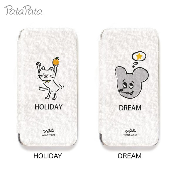 iPhone XS ケース iPhone 11 ケース iPhone 11 Pro X 8 7 8Plus 7Plus 6s 6 6sPlus 6Plus ケース 手帳型 カード収納 クリア ワンポイント PataPata|advan|09