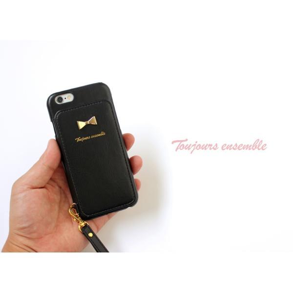1000円ポッキリ iPhone6s iPhone6 ケース カード背面収納 鏡付き ストラップ付|advan|13