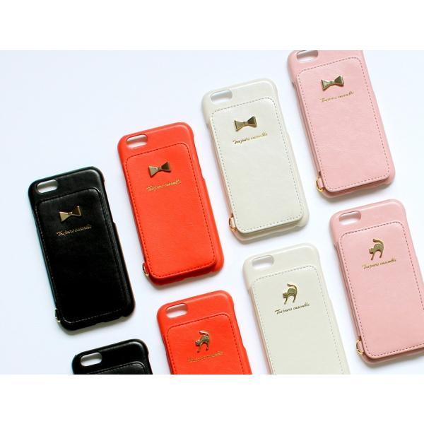 1000円ポッキリ iPhone6s iPhone6 ケース カード背面収納 鏡付き ストラップ付|advan|14