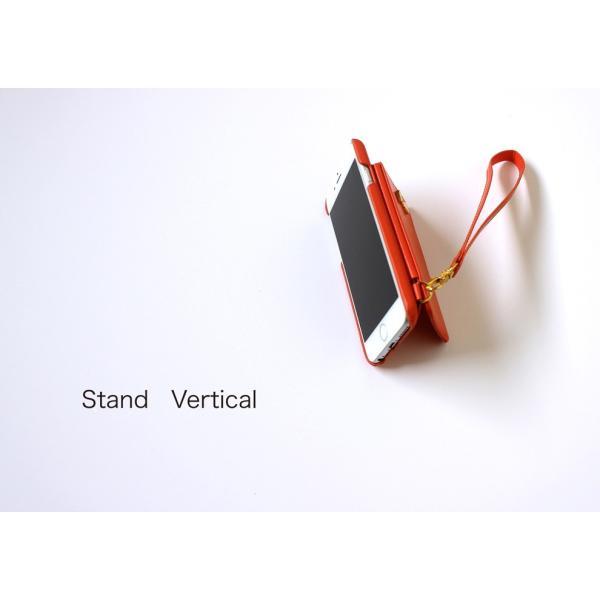 1000円ポッキリ iPhone6s iPhone6 ケース カード背面収納 鏡付き ストラップ付|advan|16