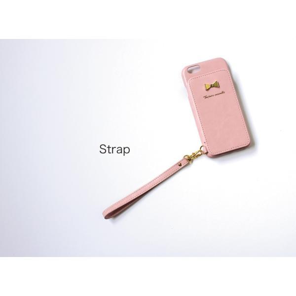 1000円ポッキリ iPhone6s iPhone6 ケース カード背面収納 鏡付き ストラップ付|advan|18