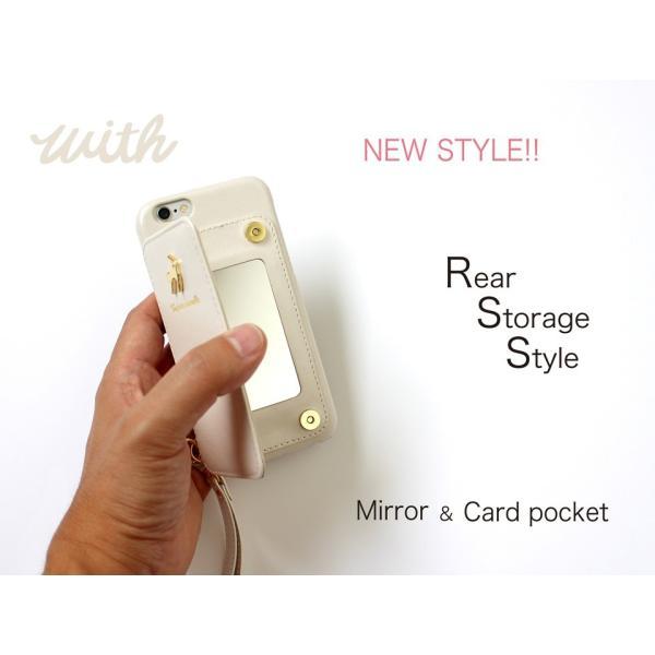 1000円ポッキリ iPhone6s iPhone6 ケース カード背面収納 鏡付き ストラップ付|advan|21