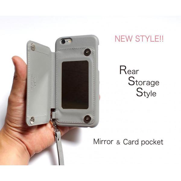 1000円ポッキリ iPhone6s iPhone6 ケース カード背面収納 スタッズ 鏡付き advan 02