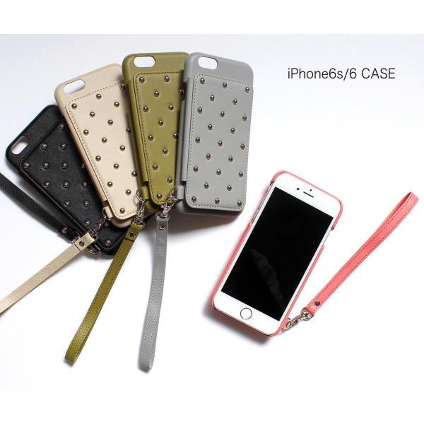 1000円ポッキリ iPhone6s iPhone6 ケース カード背面収納 スタッズ 鏡付き advan 05