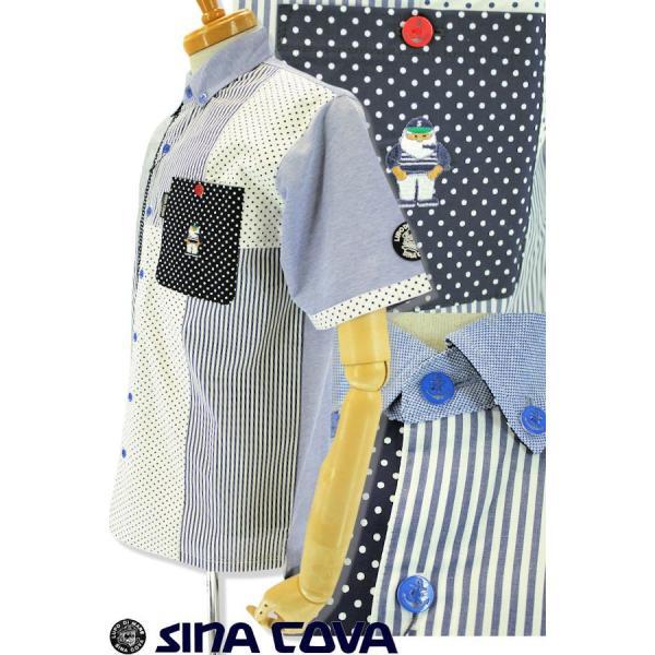 シナコバ ゴルフ シャツ 半袖 セール 2019春夏新作 メンズ 19154510-920|advance-selectshops|02