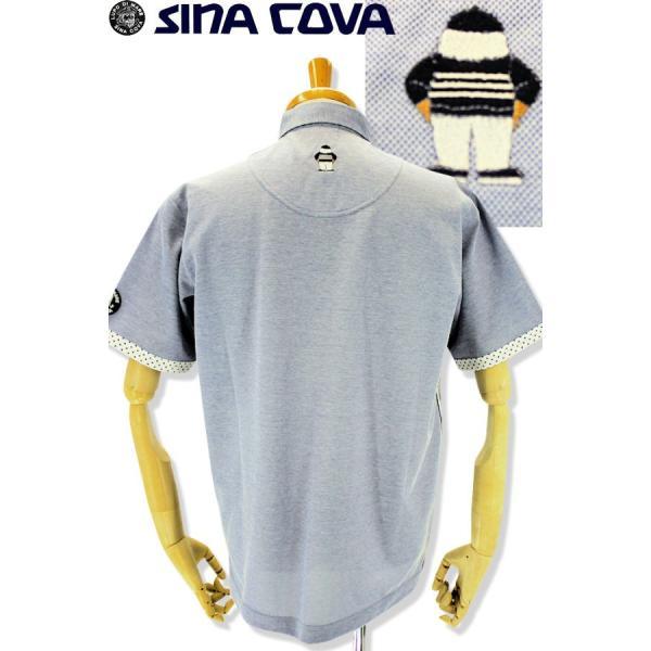 シナコバ ゴルフ シャツ 半袖 セール 2019春夏新作 メンズ 19154510-920|advance-selectshops|03