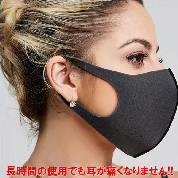 在庫あり 洗って繰り返し利用できる ピッタリ マスク レギュラーサイズ 個包装 3枚セット パッケージなし 花粉症 対策 風邪 感染症 対策 耳が痛くならない|advanceworks2008|08