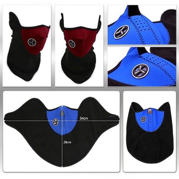 ネックウォーマー ブルー フェイスマスク 防寒用 バイク 自転車 スノボ スキー 釣り 通勤通学 メンズ レディース兼用|advanceworks2008|02
