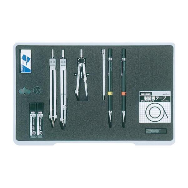 (送料無料)ドラパス NO.006 ユニットケース製図器セット6本組15品