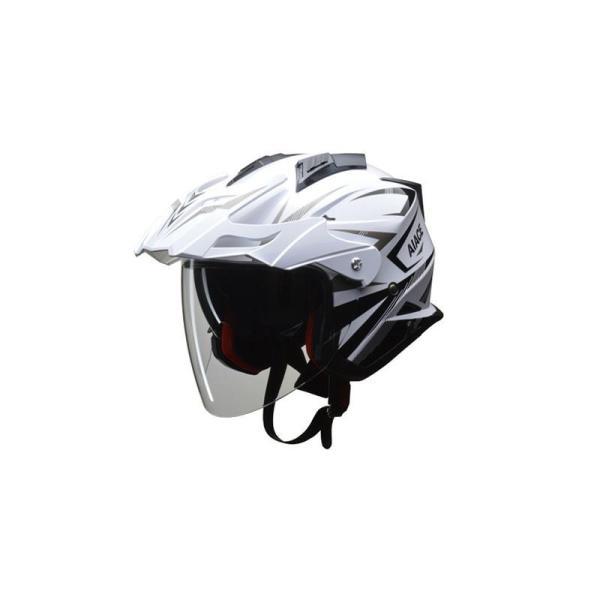 (送料無料)リード工業 LEAD AIACE アドベンチャーヘルメット ホワイト LLサイズ