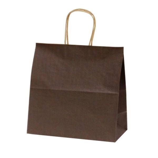 (送料無料)(代引き不可)T-6W 自動紐手提袋 紙袋 紙丸紐タイプ 300×150×300mm 300枚 カラー(カカオ) 1683