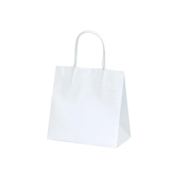 (送料無料)マットバッグ(SS) 手提袋 220×120×220mm 100枚 ホワイト 1079