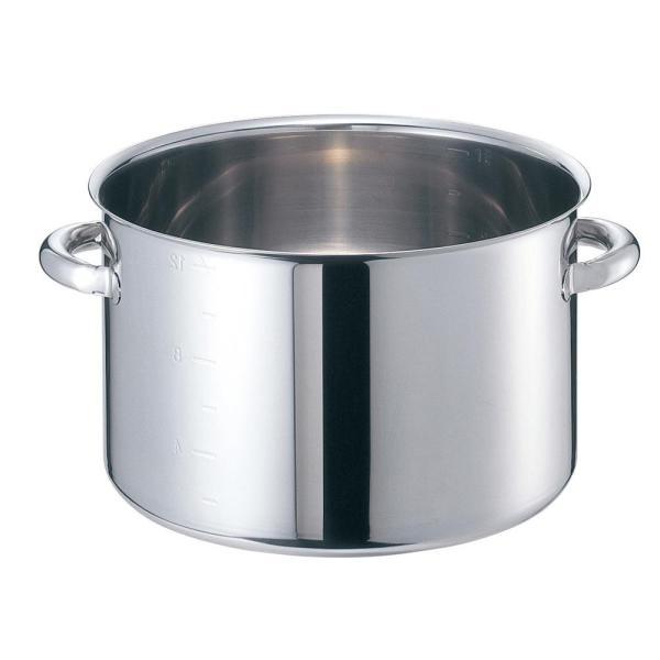 (送料無料)EBM モリブデンジII 半寸胴鍋(目盛付)21cm 蓋無 8689000