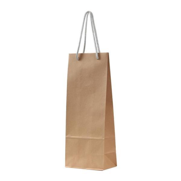 (送料無料)(代引き不可)パックタケヤマ 手提袋 HTワインバッグM 茶無地 シルバー 10枚×10包 XZT65202
