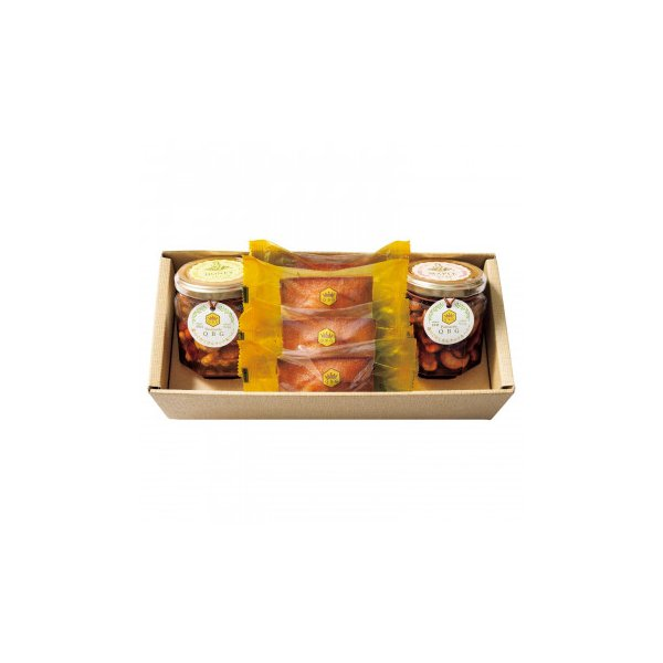 (送料無料)(代引き不可)パティスリーQBG 森のぐだくさんナッツのはちみつ・メープル漬け&フィナンシェC 90007-07