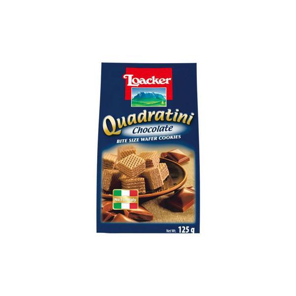 (送料無料)(代引き不可)ロアカー クワドラティーニ ウエハース チョコレート 125g 12セット