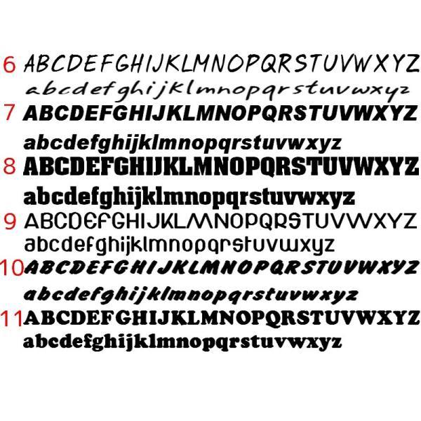 オリジナルステッカー アルファベット 数字 オーダーメイド カッティングシート 1文字150円 5cm〜10cm 色選択可能 名前 表札 ポスト|advanceworks2008|03
