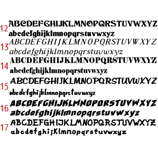 オリジナルステッカー アルファベット 数字 オーダーメイド カッティングシート 1文字150円 5cm〜10cm 色選択可能 名前 表札 ポスト|advanceworks2008|04