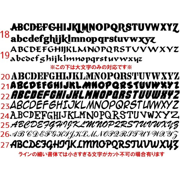 オリジナルステッカー アルファベット 数字 オーダーメイド カッティングシート 1文字150円 5cm〜10cm 色選択可能 名前 表札 ポスト|advanceworks2008|05
