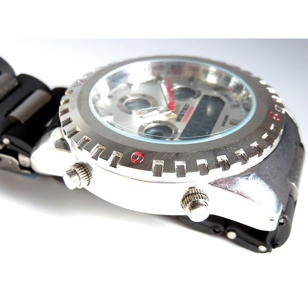 BISTEC デジタル腕時計デカ顔 シルバー/レッド advanceworks2008 04