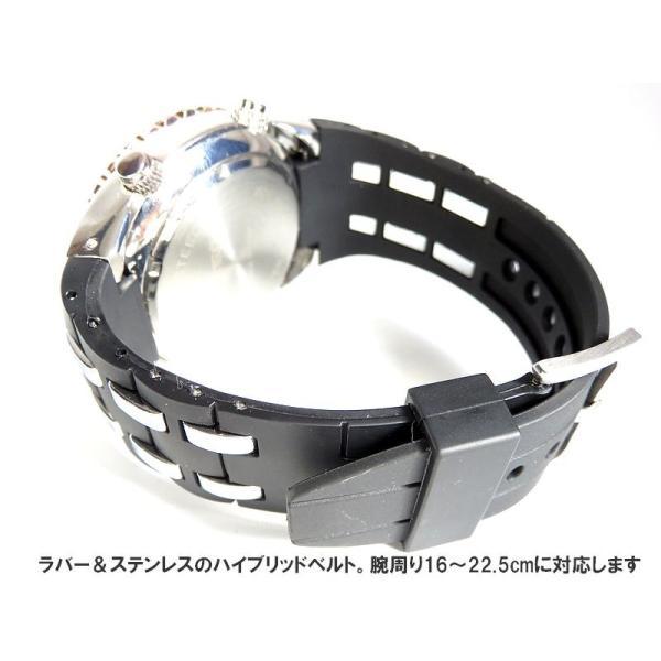 BISTEC デジタル腕時計デカ顔 回転ベゼルピンクゴールドシルバー/文字赤|advanceworks2008|06
