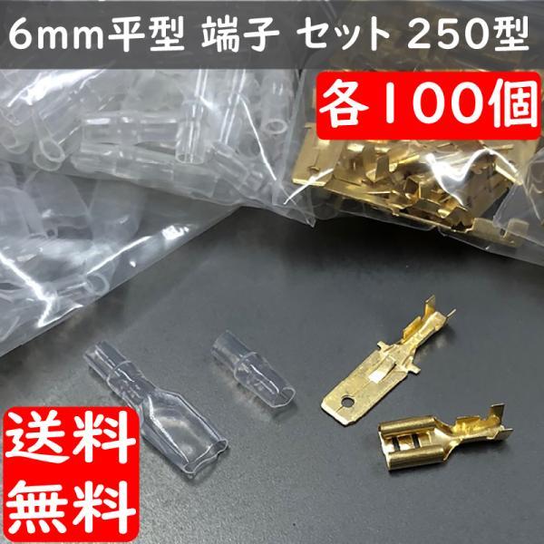 5mm平型ギボシ ヒラ型端子セット オス100個 メス100個 ギボシ用絶縁スリーブ 各100個 合計400個セット advanceworks2008