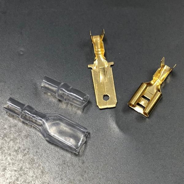 5mm平型ギボシ ヒラ型端子セット オス100個 メス100個 ギボシ用絶縁スリーブ 各100個 合計400個セット advanceworks2008 02