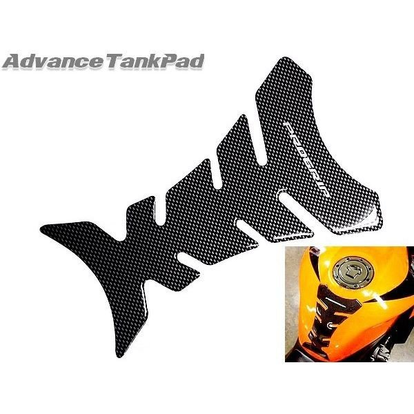 送料無料 タンクパッド Aタイプ バイク用 カーボン調 汎用 ガソリンタンクパッド カーボンルック バイク 2輪用|advanceworks2008|03