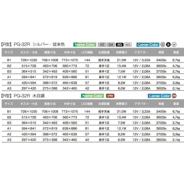 シンエイ PGライトLEDスリム PG-32R B2 AG/C(シルバー 艶有) 屋内専用|adwecs|06