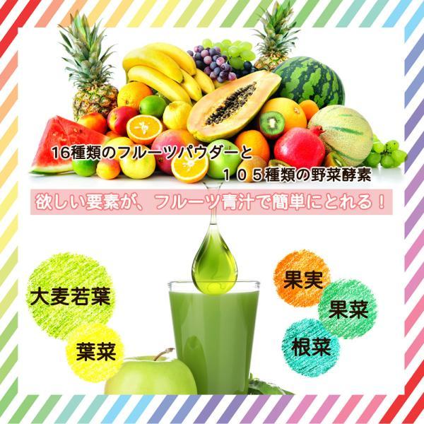【フルーツ青汁:1か月分】90g(3g×30包)青汁 酵素 ダイエット 健康 フルーツ 118種の酵素  国産 ポイント消化 ワンコイン 送料無料|aemotion|05