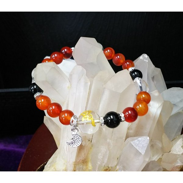 天然石ブレスレット 四神獣 水晶 オニキス カーネリアン BR002|aenkyojapan|02