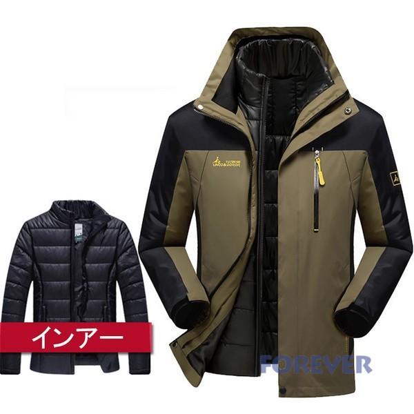 メンズ アウトドアジャケット ダウンジャケット+マウンテンパーカー トレッキング ハイキングジャケッ 防寒着 防水 登山ウェア 厚手|aforever|05