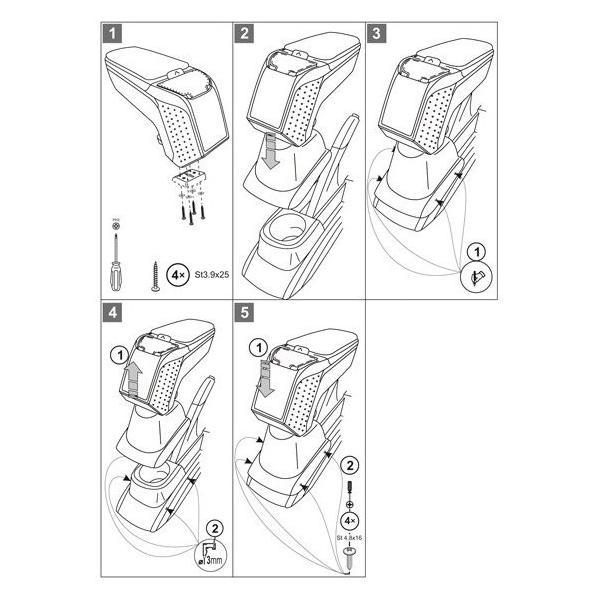 ARMSTER アームスター2 携帯ポケット付 VW フォルクスワーゲン POLO ポロ 6R/6C 09〜 ブラック/ブラック[V00288]|afterparts-jp|02