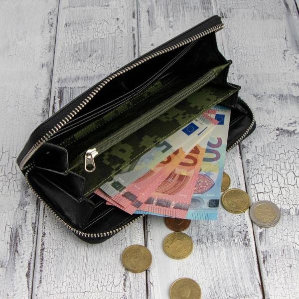 大流行のカーボンレザー長財布  ドイツの名門サラマンダー社製のボンテッドレザー メンズ  レディース 財布|again|03