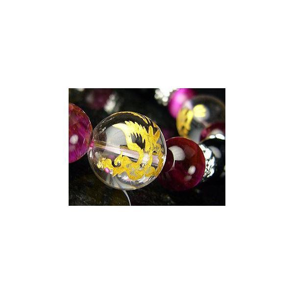 ≪完売御礼≫黄金四神(四聖獣)ピンクタイガーアイ×オニキス/天然石 パワーストーンブレスレット|青龍|白虎|朱雀|玄武|again|04