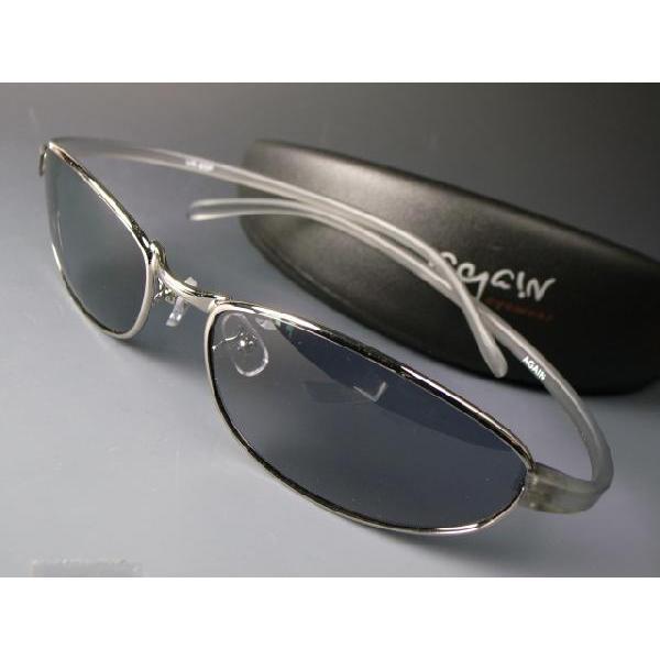形状記憶樹脂アーム/偏光サングラス AGAIN アゲイン/サングラス メンズ UV 100% カット again 03