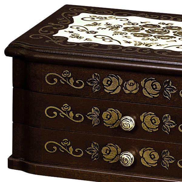 送料無料 日本製 高級感のある ジュエルボックス ( ジュエリーボックス 宝石箱 アクセサリーボックス 小物入れ 国産 ) G-908B|age|02
