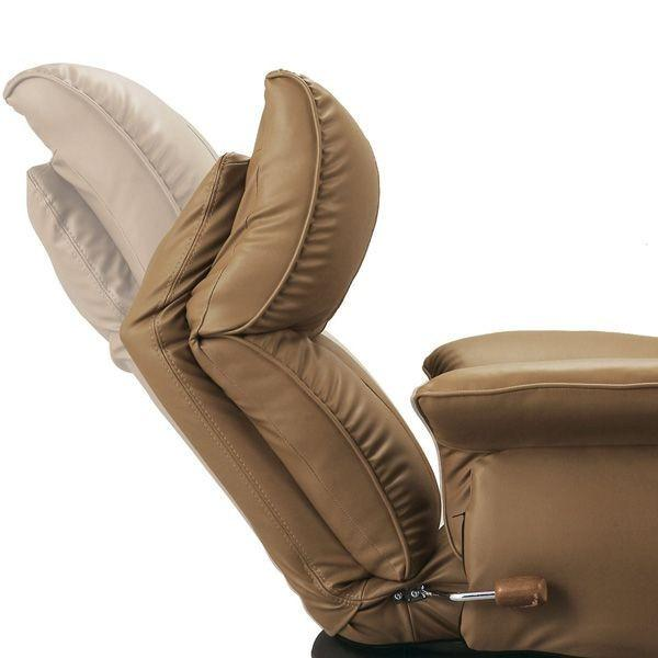 座椅子 おしゃれ 肘付き 日本製 スーパーソフトレザー座椅子 回転式 13段階リクライニング YS-1396HR レザー 座イス 座いす 新生活|age|05