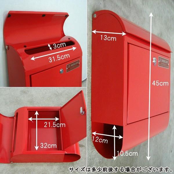 壁掛けポスト おしゃれ 郵便ポスト MERCURY マーキュリー メールボックス MCR MAIL BOX 郵便受 C062 ポスト MEMABO 送料無料 新生活|age|07