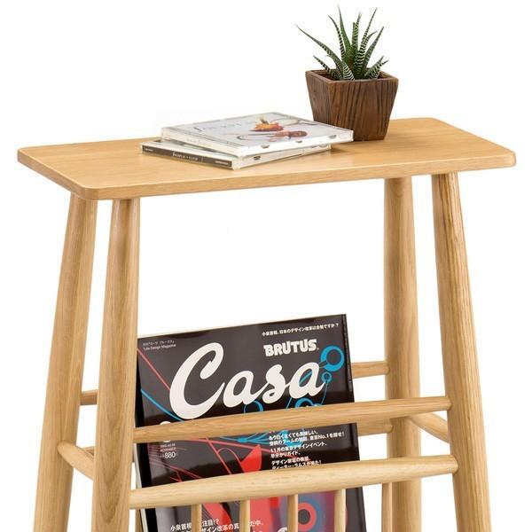 送料無料 オーク材 木製 マガジンテーブル ( マガジンラック 本立て 収納 サイドテーブル ) オーク7527 オーク8527 新生活|age|04