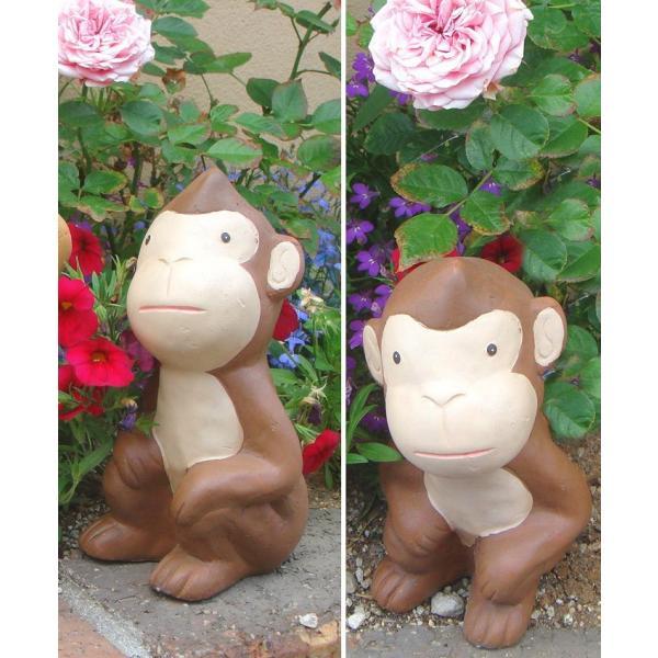 可愛い おさる ブラウン 4匹セット モンキー 猿 置物 オーナメント さる サル お猿 申 おしゃれ ガーデニング 飾り 送料無料 新生活|age|06