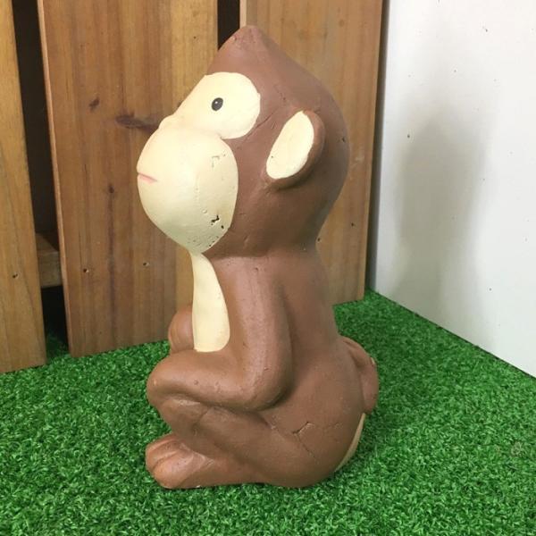 可愛い おさる ブラウン 4匹セット モンキー 猿 置物 オーナメント さる サル お猿 申 おしゃれ ガーデニング 飾り 送料無料 新生活|age|10