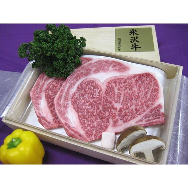 最高級熟成米沢牛 A5等級メス リブロース ステーキ用 1kg(200g×5枚) 桐箱入